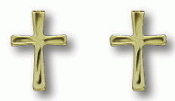 14kt Gold Filled Cross Earrings