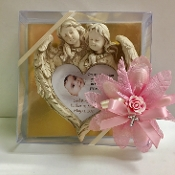 Guardian Angel Heart Plaque Personalized Bomboniere