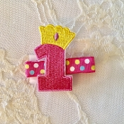 1 Birthday Hair Clip
