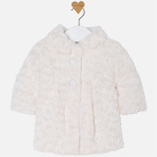 Mayoral Baby girl jersey and faux fur coat