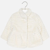 Mayoral Baby girl faux fur coat