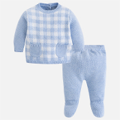 Mayoral Baby boy set of knit jumper and footed trousers