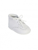 Baby Boys White Leather Shoes