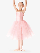 Leo Child's Soft Tulle Juliet Skirt Pink