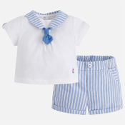 Mayoral Baby boy Stripes Short Trousers Set
