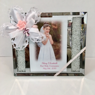 3x5 Frame Wcrushed Crystal Personalized Bomboniere