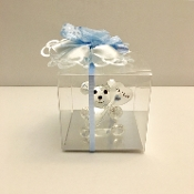 Its A Boy Glass Bear Figure
