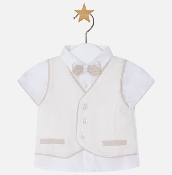 Mayoral Baby boy Skirt, Vest and Bowtie