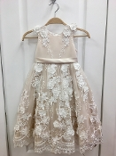 Princess Daliana Embroidered Floral Lace Dress