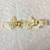Ivory Lace Headband w/Lace Applique