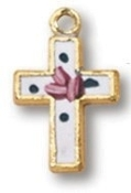 Gold Plated Baby Cloissone Cross Necklace