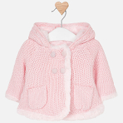 Mayoral Baby girl Knitted Hooded Jacket
