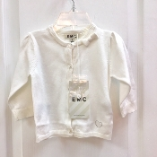 EMC Ivory Knit Sweater w/Sparkle Buttons/Rhinestone Heart