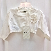 EMC Ivory Knit Sweater w/Flower
