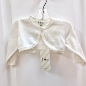 EMC Ivory Knit Sweater w/Sparkle Button