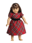 "18"" Doll Red Plaid Dress"