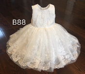 Teter Warm All Over Lace Ivory Infant Dress