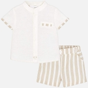 Mayoral Baby Boy Striped Short Trouser Set