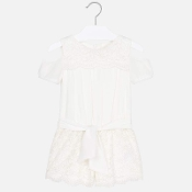 Mayoral Girls Lace Romper
