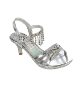 Girls Pageant Heels with Dangling Rhinestones