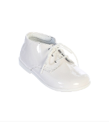 Baby Boys White Patent Leather Shoes