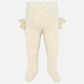 Mayoral Knit Tights with Flounce