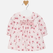 Mayoral Baby girl Long Sleeve Floral Dress