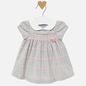 Mayoral Baby Girl Plaid Dress with Smocking