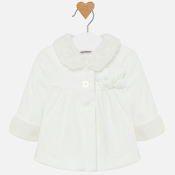 Mayoral baby Girl Coat w/Faux Fur Collar