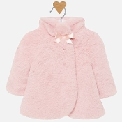 Mayoral girl Blush Fur Coat