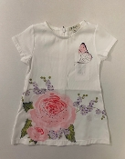 EMC White Shift Dress with Flowers