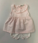 EMC Baby Girl Pink Dress/Bloomer Set