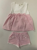 EMC Pink Seersucker Dress, Bloomer Set