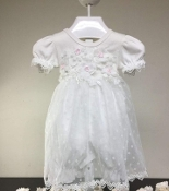 Bebe Infant Embroidered Dress and Headband Set
