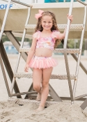 Isobella & Chloe Rose 2pc Daydreamin Bathing Suit