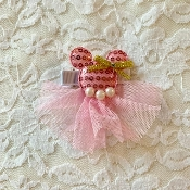 Pink Sequin Minnie Hair Clip