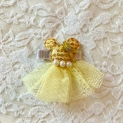 Yellow Sequin Minnie Hair Clip