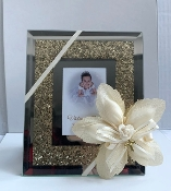 3x5 Frame w/Crushed Crystal Personalized Bomboniere