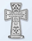 Pewter Standing Godfather Cross