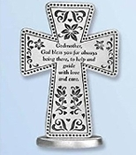 Pewter Standing Godmother Cross