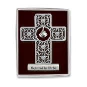 Pewter Standing Baptism Cross