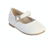Infant Patent Leather Shoe w/Rhinestone Buckle