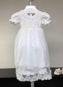Bebe Infant Embroidered Gown and Headband Set
