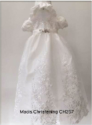 Maci's Design Ivory Lace Embroidered Christening Gown