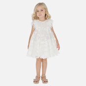 Mayoral Girl Embroidered Tulle Dress