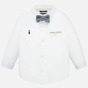 Mayoral Boy Dressy LS Shirt, Linen Pants, Bow Tie
