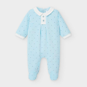 Mayoral Baby Blue Footie with Stars