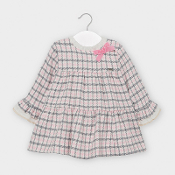 Mayoral Baby girl Rosa Houndstooth Check Dress