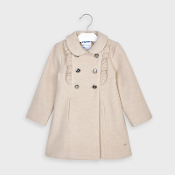 Mayoral Girl Mouflon Coat w/Ruffles