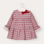 Mayoral Baby girl Red Houndstooth Check Dress